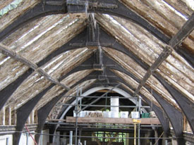 Nave ceiling before the works