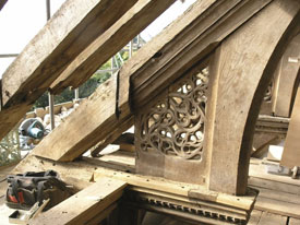 Timber repairs at St Nicholas Church, Potter Heigham